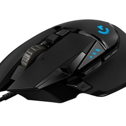 Logitech Gaming Mouse G502 (Hero) Optisk Kabling Svart
