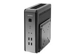 Antec ISK110 VESA U3 - Desktop slimline (DTS) - svart, silver