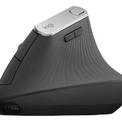Logitech MX Vertical Optisk trådlös Kabling Svart