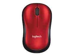 Logitech M185 Optisk Trådlös Röd