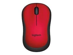 Logitech M220 Silent Optisk Trådlös Svart Röd