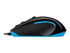 Logitech G300S - optisk - 9 knappar - kabelansluten - Svart / Blå