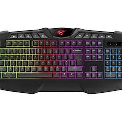 Havit KB465L Tastatur Flerfarvet Kabling