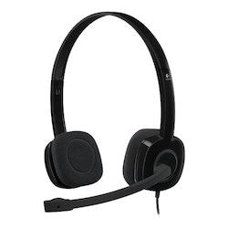 Logitech Stereo H151 - Headset - på örat - kabelansluten