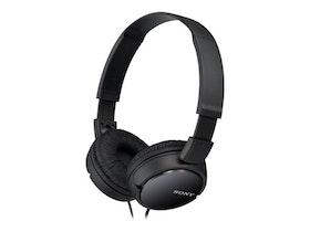 Sony MDR-ZX110NA - Hörlurar med mikrofon - svart