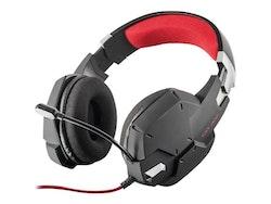 Trust GXT 322 Kabling Silver Röd Svart Headset