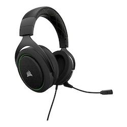 CORSAIR Gaming HS50 STEREO Kabling grön Svart Headset