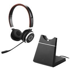 Jabra Evolve 65+ UC stereo - Headset - Svart