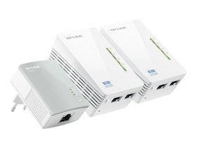 TP-LINK TL-WPA4220T KIT AV500 Powerline Universal WiFi Range Extender, 2 Ports, Network Kit Bro 500Mbps Trådlös Kabling