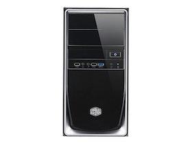 Cooler Master Elite 344 - Mini tower - mini ITX / micro ATX - inget nätaggregat (ATX / PS/2) - svart, silver