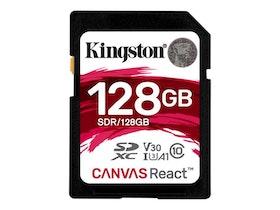 Kingston Canvas React SDXC 128GB A1 / Video Class V30 / UHS-I U3 / Class10