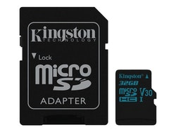 Kingston Canvas Go! microSDHC 32GB Video Class V30 / UHS-I U3 / Class10