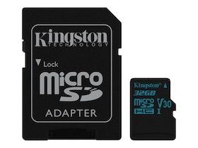 Kingston Canvas Go! microSDHC 32GB Video Class V30 / UHS-I U3 / Class10