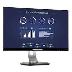 "Philips Brilliance B-line 258B6QUEB 25"" 2560 x 1440 DVI VGA (HD-15) HDMI DisplayPort USB-C 60Hz Pivot Skärm"