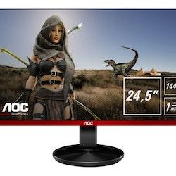 "AOC Gaming G2590PX 24.5"" 1920 x 1080 VGA (HD-15) HDMI DisplayPort 144Hz Pivot skärm"