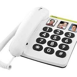 DORO PhoneEasy 331ph vit grå