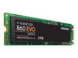 Samsung 860 EVO SSD MZ-N6E2T0BW 2TB M.2 SATA-600