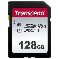 Transcend 300S SDXC 128GB Video Class V30 / UHS-I U3 / Class10