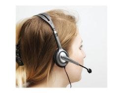 Logitech Stereo H111 - Headset - på örat - kabelansluten
