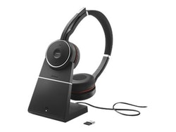 Jabra Evolve 75 MS Stereo - Headset - på örat - Bluetooth - trådlös