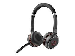 Jabra Evolve 75 MS Stereo - Headset - på örat - Bluetooth - trådlös - aktiv brusradering - USB