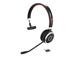 Jabra Evolve 65 MS mono - Headset - på örat - konvertibel - Bluetooth - trådlös - NFC - USB