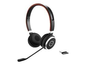 Jabra Evolve 65 MS Stereo - Headset - på örat - Trådlöst Bluetooth - NFC - USB