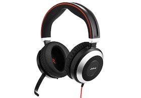 Jabra Evolve 80 MS stereo Kabling Svart Headset