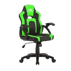 Nordic Gaming Little Warrior Gamer Stol Black Green