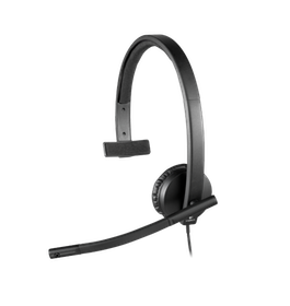 Logitech USB Headset Mono H650e - Headset - Svart
