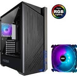 Azza Raven 420DF1 Midi Tower RGB - Tempered Glass