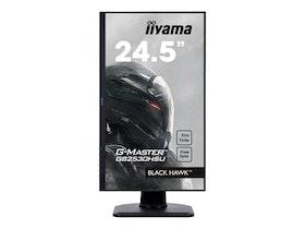 """iiyama G-MASTER Black Hawk GB2530HSU-B1 24.5"""" 1920 x 1080 VGA (HD-15) HDMI DisplayPort 75Hz Pivot Skärm"""