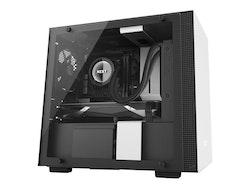 NZXT H series H200i - Tower - mini ITX - inget nätaggregat - svart, matt vit - USB/ljud