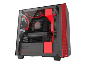 NZXT H series H400i - Tower - micro ATX - inget nätaggregat - röd, mattsvart