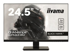 "iiyama G-MASTER Black Hawk G2530HSU-B1 24.5"" 1920 x 1080 VGA (HD-15) HDMI DisplayPort 75Hz"