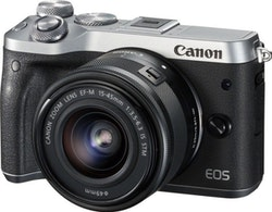 Canon EOS M6 - Digitalkamera - spegellöst - 24.2 MP - silver