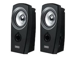 Sweex 2.0 Speaker Set USB - Högtalare - för persondator - 2 Watt (Total) - svart/silver