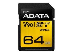 ADATA Premier ONE SDXC UHS-II minneskort 64GB UHS-II U3 / Class10