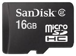 SanDisk microSDHC 16GB klass 4