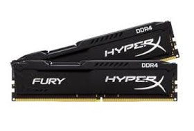 HyperX FURY DDR4 32GB-kit 2666MHz CL16 svart