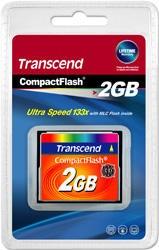 Transcend - Flash-minneskort - 2 GB - 133x - CompactFlash