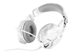Trust GXT 322 - Headset - full size - wired - white camouflage
