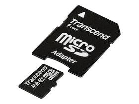 Transcend Premium MicroSDHC 4GB Klass 10