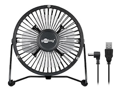 Goobay 4 Inch Desktop USB fan Black