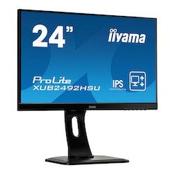 """iiyama ProLite XUB2492HSU-B1 24 """"1920 x 1080 VGA (HD-15) HDMI DisplayPort Pivot Skärm"""