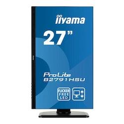 """iiyama ProLite B2791HSU-B1 27"""" 1920 x 1080 VGA (HD-15) HDMI DisplayPort 75Hz Pivot skärm"""