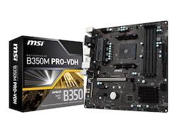 MSI B350M PRO-VDH Micro-ATX AM4 AMD B350 FCH