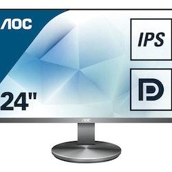 """AOC I2490VXQ 23.8"""" 1920 x 1080 VGA (HD-15) HDMI DisplayPort 60Hz"""