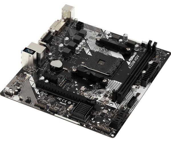 ASRock A320M-HDV R4.0 Micro-ATX AM4 AMD A320