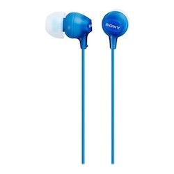 Sony MDR-EX15AP - EX-serien - hörlurar med mikrofon - i örat - kabeldragna - 3,5 mm uttag - blå